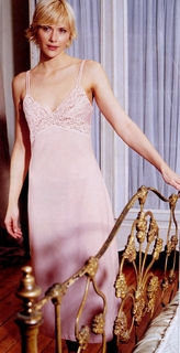 Lace Italian Knit Nightgown-Chloe Pretty Sexy Pink Lace Luxury Made in Italy