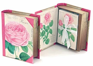 Roses Book Box Note Cards