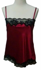 Rosetta Luxury 100% Silk Camisole with French Lace - Classic Luxury - Bespoke Made in USA by Pampour Couture