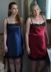 Luxury 100% Silk Nightgown Chemise - Rosetta Classic French Lace - Bespoke Made in USA by Pampour Couture