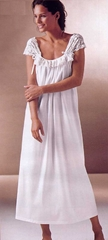 Luxury Italian Knit Nightgown-Cream-Rachelle Feminine and Sexy-Lace