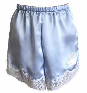 Silk & French Lace Luxury Tap Pant, French Short - Something Blue Bridal Boxer