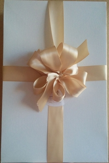 White Box with Satin Ribbon and Bow