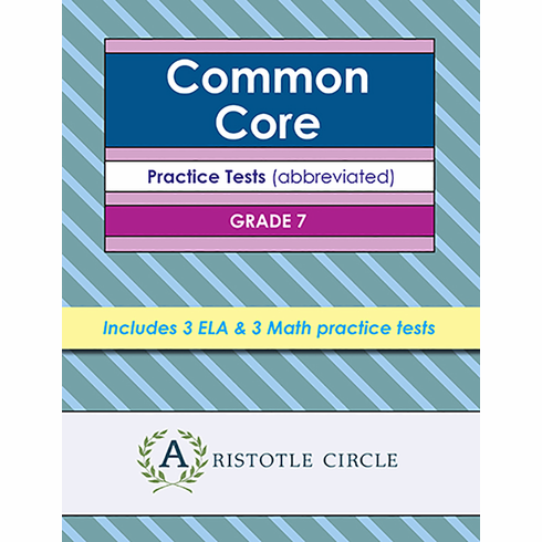 "Common Core Grade 7 Practice Tests  <span style=""color: red""> OUT OF STOCK</span>"