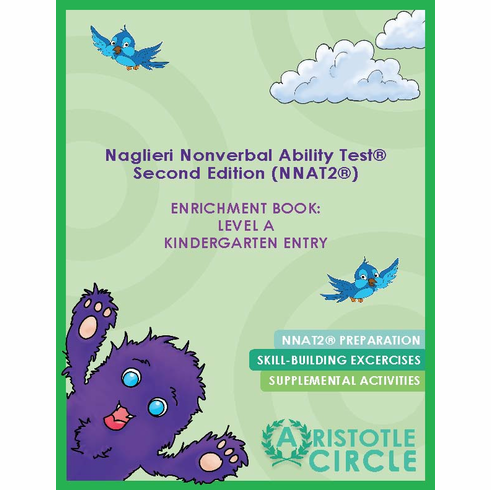 "Naglieri Nonverbal Abilities Test 2® (NNAT2)® Enrichment Book: Level A Kindergarten Entry<br><span style=""color: red"">Free Practice Test Included!</span>"