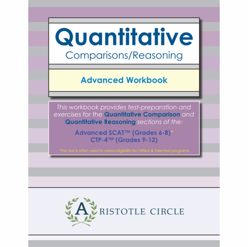 Quantitative Comparisons/Reasoning Advanced Workbook<br>