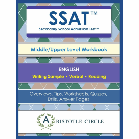 "SSAT™ Middle/Upper Level English Workbook <br>(Grades 5-11)<span style=""color: red""> NEW!</span><br>"