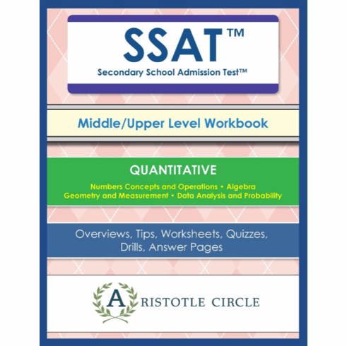 "SSAT™ Middle/Upper Level Quantitative Workbook <br>(Grades 5-11)<span style=""color: red""> NEW!</span><br>"