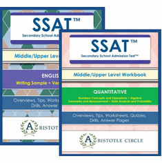 "SSAT™ Middle/Upper Level Workbook Bundle <br>(Grades 5-11)<span style=""color: red""> NEW!</span><br>"