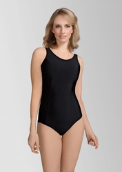 Amoena Rhodes Pocketed Tank Swimsuit, Black