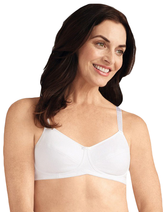 Amoena Ruth Cotton Soft Cup Pocketed Bra 2872
