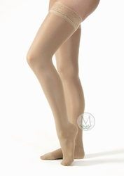 Jobst UltraSheer Petite Thigh High with Silicone Lace Band Closed Toe (15-20 mmHg)