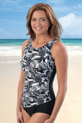 Jodee Draped Tank Soft Cup Pocketed Swimsuit (Style 3004)