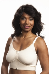 Wear Ease Allyson Front Zipper Pocketed Bra (2 Drain Pouches) (Style 751)