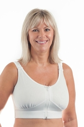 Wear Ease Compression Pocketed Bra (2 Drain Pouches and 2 Breast Forms) (Style 792)