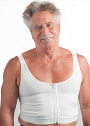 Wear Ease Men's Compression Vest with 2 Drainage Tube Pouches (Style 799)
