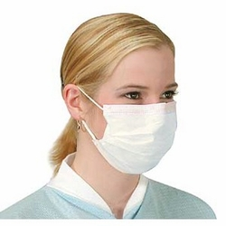 White Pleated Earloop Face Masks Home Page