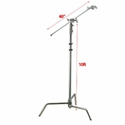 "10ft Height 40"" Arm Photography C Stand Video Studio Century Stand Kit"