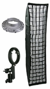 "12 x 48"" Strip Softbox Bowen Strobe or Nikon Canon Flash Mount"
