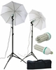 2 x 120 LED Photography Video Studio Photo Umbrella Lighting Light Kit