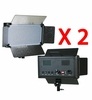 2 x 500 LED Light Panels with filters & dimmer switch 500SD