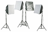 4 Softbox CFL Photo Softbox Chromakey Green Screen Lighting Kit H24S4