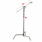 "8ft Photo C Stand 30"" Arm Video Studio Photography Century Stand Kit"