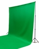 Backdrop Support System Kit + 10' x 10' Cotton Green Chroma Key