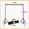 ePhoto Photography Video Backdrop Background Heavy Duty Support Stand with Case for Chromakey or Muslin by ePhotoInc H30