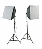 Photography Video Studio Lighting Kit 2 EZ Softboxes H24S