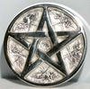 "Altar Pentacle Paten 3"" - silver plated brass"