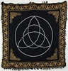 Black Triquetra Altar Cloth - 36x36