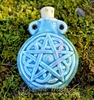 Celtic Pentacle Raku Potion Bottle