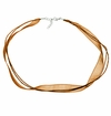 Chocolate - Double Silk Ribbon Necklace - ONLY 1