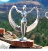 Crescent Moon Goddess Statuette
