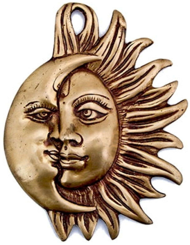 entwined sun moon wall plaque. Black Bedroom Furniture Sets. Home Design Ideas