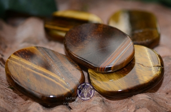 Golden Tiger's Eye Medallion ~ Worry Stone