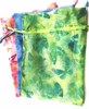 Green Butterfly Organza Pouch