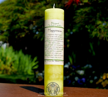 Happiness - Blessed Herbal Candle