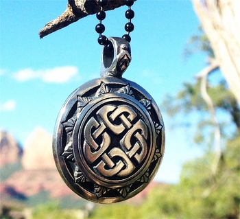 Knotted Shield Necklace