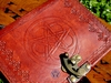 Large Celtic Pentacle Leather Journal