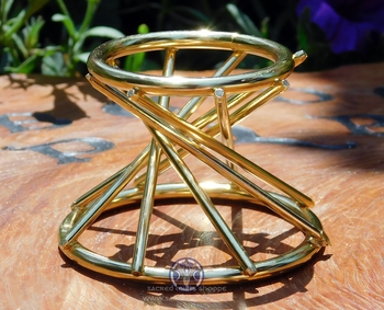 Spiral Lines Sphere Stand