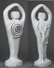 """Spiral Lord Statue 8.5"""" - Antiqued White"""