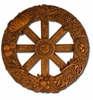 Wooden Finish Wheel of the Year