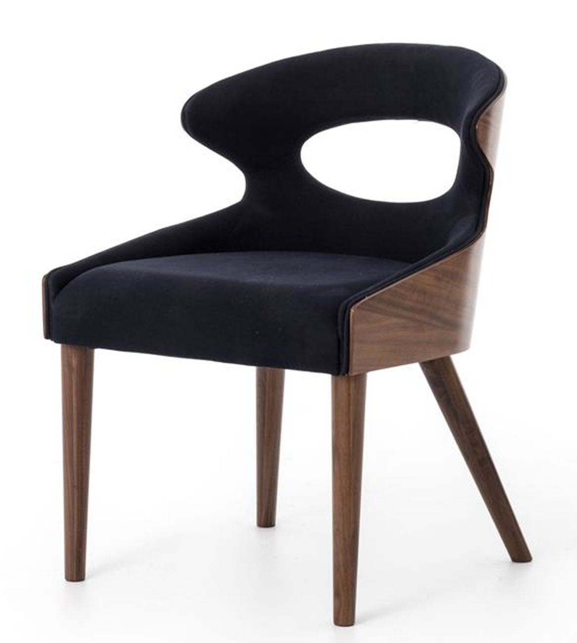 Four Hands Dining Chair Dark Blue Walnut