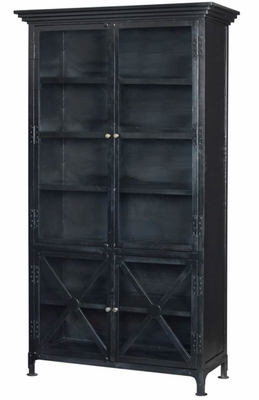 Adnot X Frame Bookcase (Antique Black)