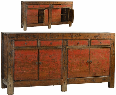 Adolfo Antique Red Sideboard