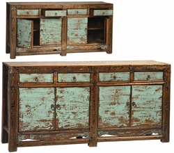 Agapito Antique Aqua Sideboard