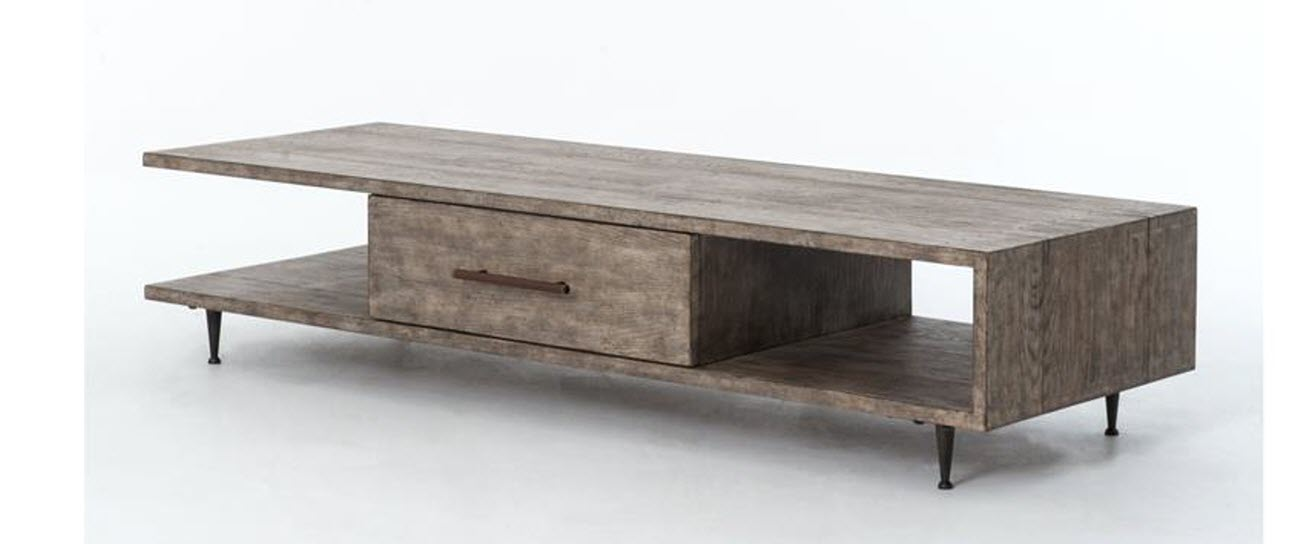 Four Hands Coffee Table Driftwood Light Brown