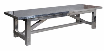 "Aimeri 114"" Dining Table (Aero-Grey)"